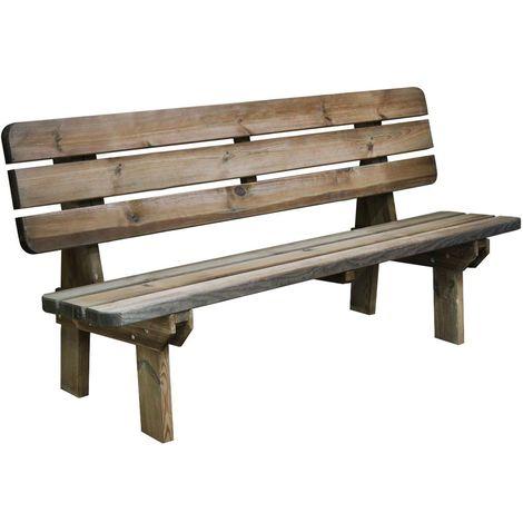 banc de jardin 4 places en bois traite autoclave rambouillet