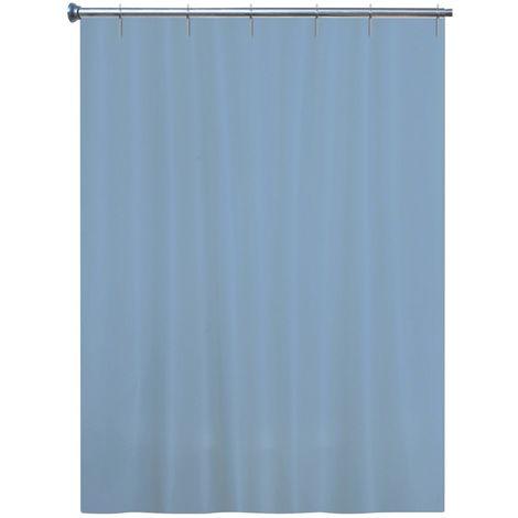 rideau textile bleu gris