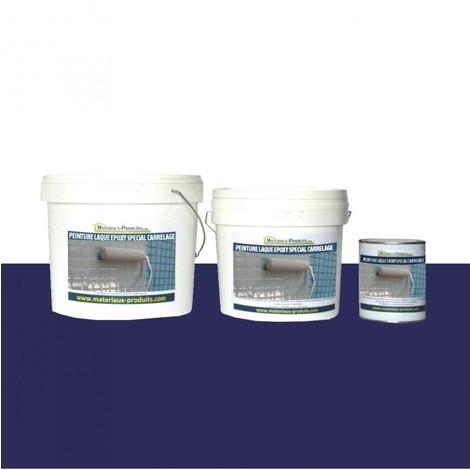peinture laque epoxy special carrelage bleu marine 1 kg bleu marine