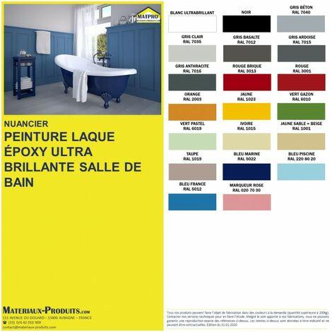 peinture laque epoxy ultra brillante salle de bain ivoire 1 kg ivoire