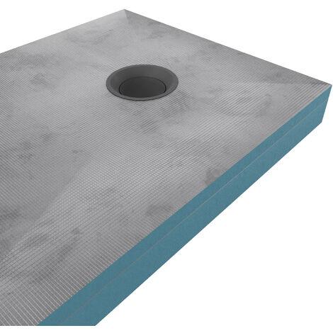 receveur de douche a carreler 80x120cm recoupable sur mesure avec rehausse