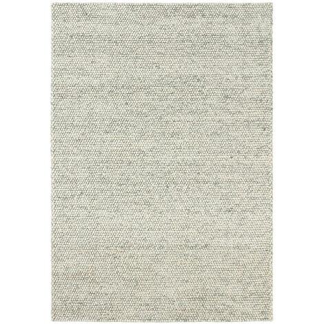 tapis naturel en laine scandinave gris clair 120 x 170 cm