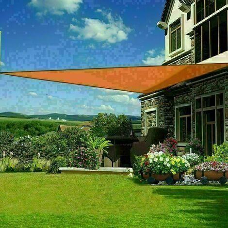 3x3x3m sun sail shade triangle awning canopy garden sun patio sunscreen orange