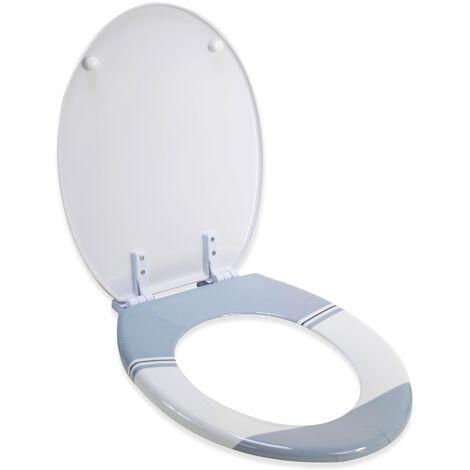 Abattant Wc De Toilette Plastique Duroplast Marins Encre