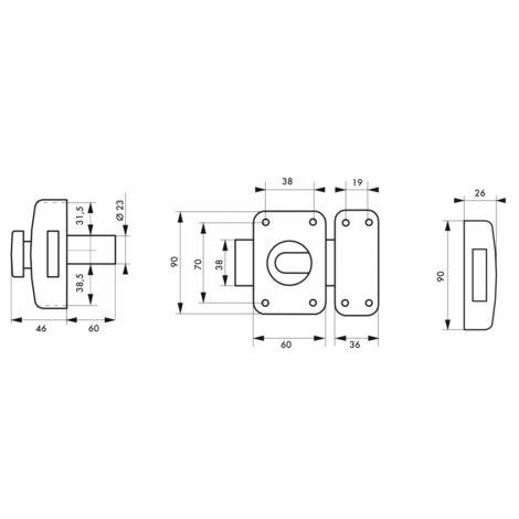 thirard verrou de porte d entree capital a bouton et cylindre 60 mm