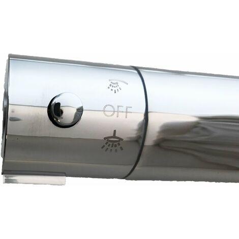 mitigeur thermostatique rond double sortie pour colonne douche