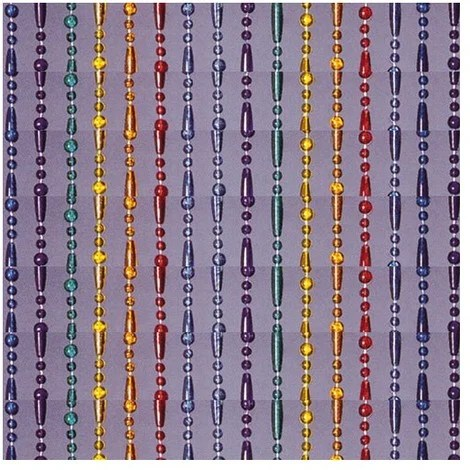 morel rideau de porte olivia 90x200 cm arc ciel translucide