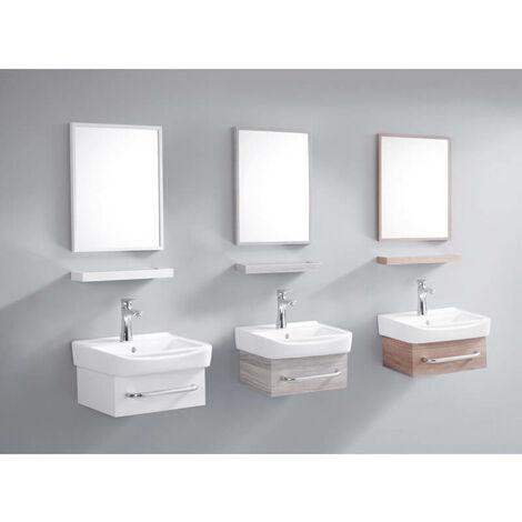 ensemble meuble de salle de bain gain de place blanc creme 44x36 cm id