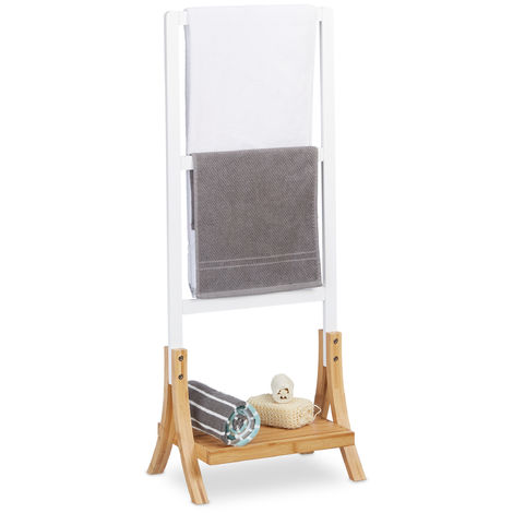 handtuchhalter stehend mit 3 handtuchstangen ablage badezimmer handtuchhalterung hbt 104x41x28 5 cm weiss