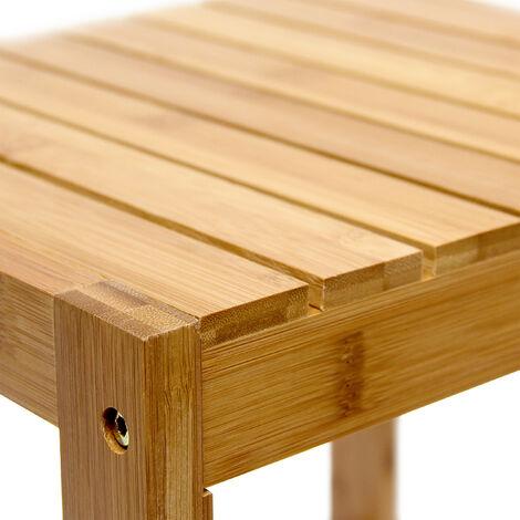 tabouret en bambou table pour plantes tabouret salle de bain hxlxp 40 x 28 x 32 cm table appoint deco nature