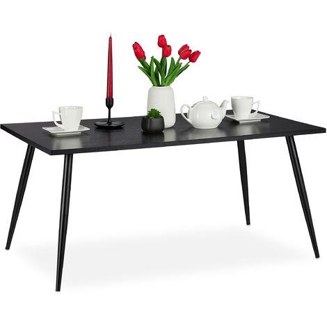 table basse support dans salon pieds en metal rectangulaire table dans les dimensions 45 x 100 x 55 cm noire