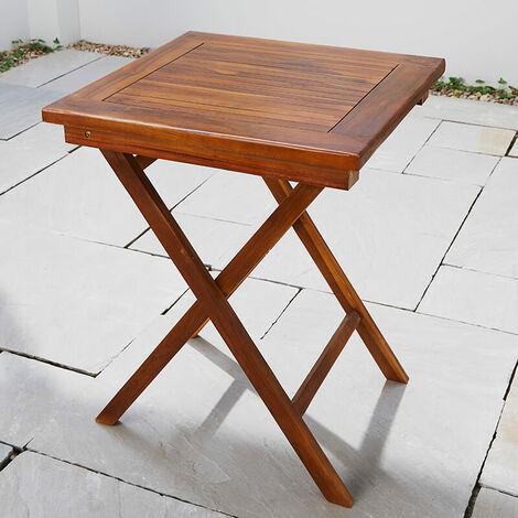 solid hardwood square wooden garden drink table patio bistro outdoor furniture