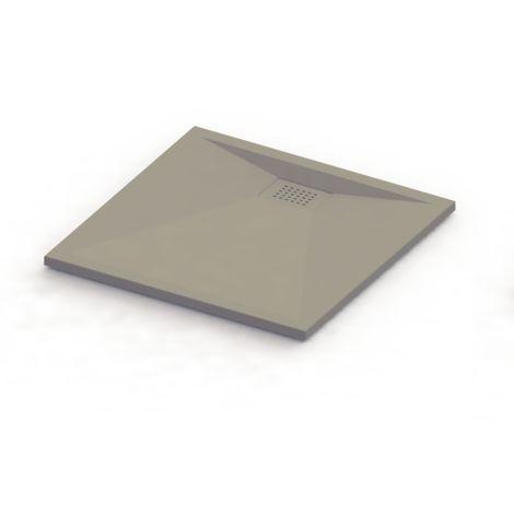receveur 3cm kinesurf taupe mat 2017 carre 80x80