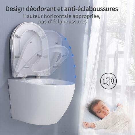 wc suspendu avec abattant toilette murale en ceramique blanc cuvette suspendue sans bride haute de gamme
