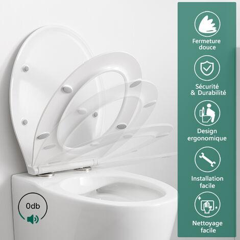 Abattant Wc Frein De Chute Lunette De Toilette En Forme De O Siege De Toilette Degagement