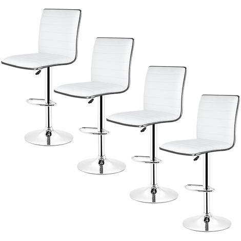 tabouret de bar lot de 4 tabouret de bar design chaise de bar noir pivotant et reglable en hauteur 60 81cm