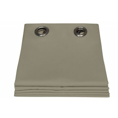 rideau exterieur moondream taupe en 135 x 250 lxh finition œillets