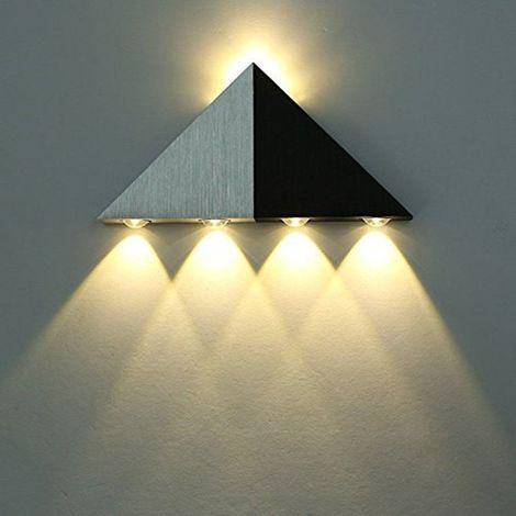 Applique Murale Led 5w Interieur Triangle Lampe Design Original Moderne Eclairage Decoratif En Aluminium Luminaire Pour