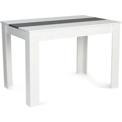 table a manger rozy 4 personnes blanche et grise 110 cm