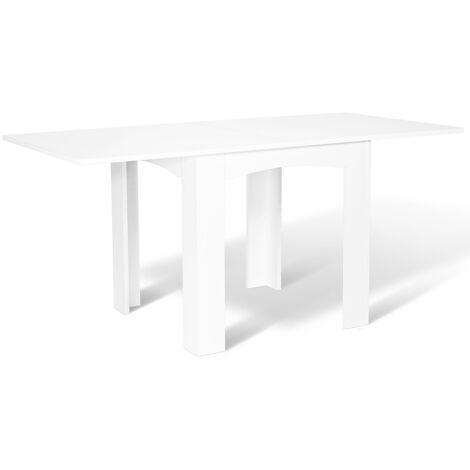 table a manger extensible dona 6 8 personnes blanche 80 160 cm