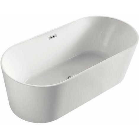 baignoire ilot ovale en acrylique 140