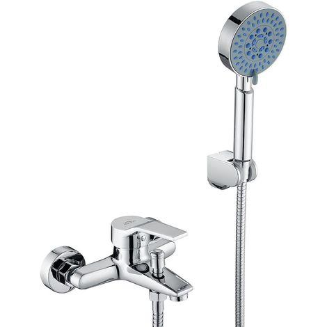 auralum mitigeur de baignoire avec douchette kit mitigeur robinet de baignoire cascade melangeur de baignoire salle de bain mitigeur monocommande bain