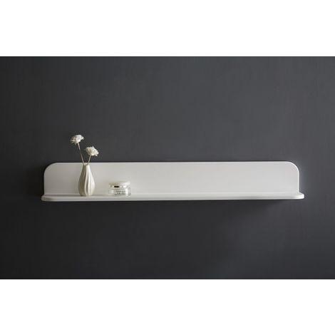 etagere murale pour salle de bain en fonte minerale pb4202 90x12x12 cm