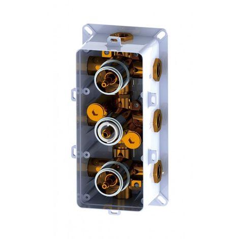 mitigeur de douche thermostatique a encastrer avec inverseur 6 voies 6 fonctions up11 02