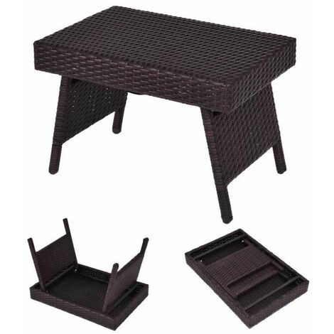 https www manomano fr p folding rattan side coffee table patio square garden outdoor furniture brown 9448173