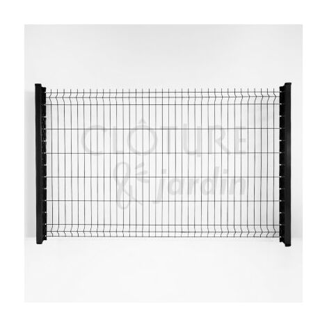 kit grillage rigide gris anthracite 10m jardimalin fil 4mm 1 93 metre
