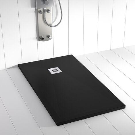 receveur de douche ra c sine ples noir ral 9005 70x90 cm
