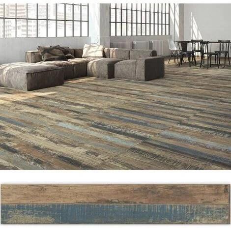 carrelage imitation parquet vintage style usine luck 20x114 cm 1 14m