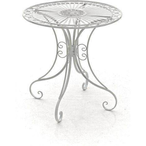 table de jardin en fer forge diametre o