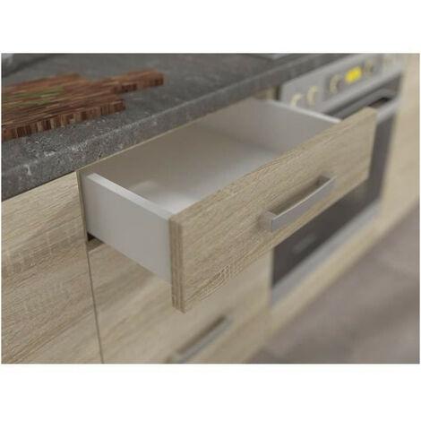 lassen meuble bas de cuisine l 40 cm avec plan de travail inclus decor chene clair sonoma
