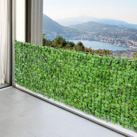 haie artificiel erable brise vue decoration rouleau 3l x 1h m feuillage realiste anti uv vert vert
