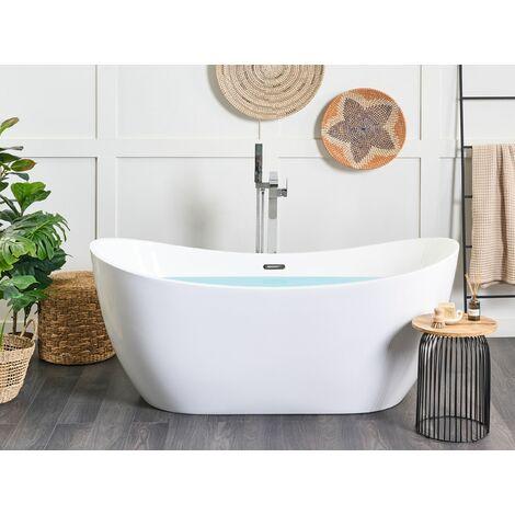 baignoire ilot 170 cm en acrylique blanc antigua