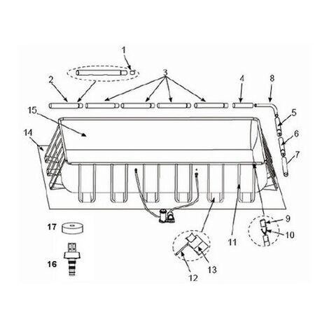 piscine tubulaire rectangulaire ultra silver intex 457 x 274 x 122 cm