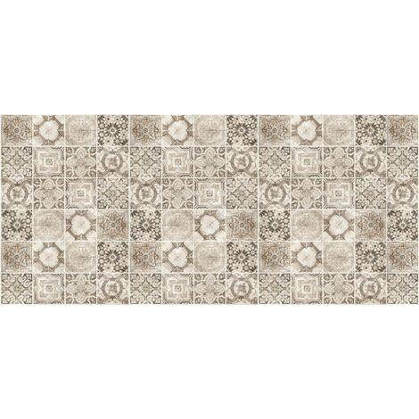 tapis cuisine en vinyle pvc tarkett 49 5x109 pour sol cuisine sous evier ou salle de bains style carreaux de ciment motif valence