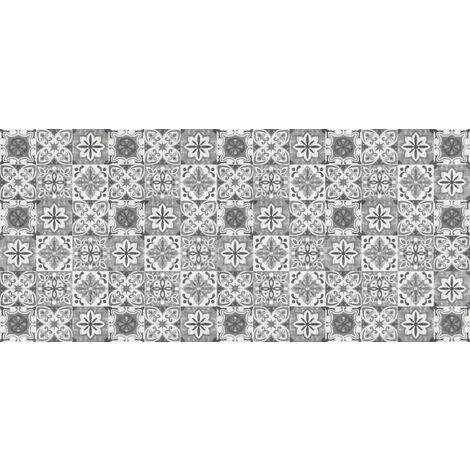 tapis cuisine en vinyle pvc tarkett 49 5x109 pour sol cuisine sous evier ou salle de bains style carreaux de ciment motif tolede