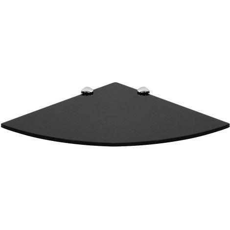 tablette d angle en verre noir 25x25cm tablette de salle de bains support tablette en verre tablette en verre console