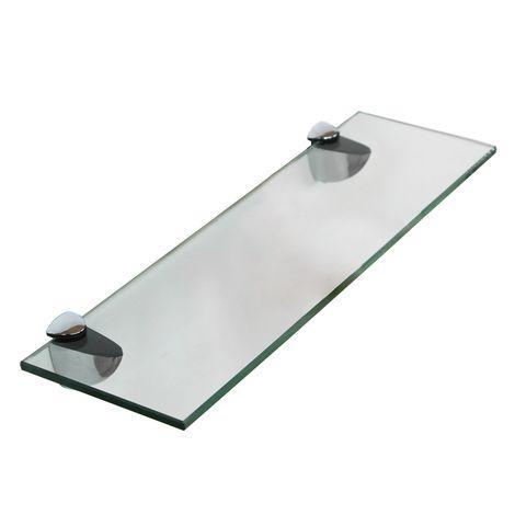 etagere en verre 50x10cm support etagere de salle de bains etagere miroir de bains support de fixation