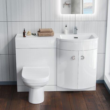 dene rh white vanity sink and debra btw toilet combo unit