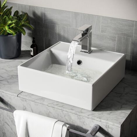 leven square counter top basin sink