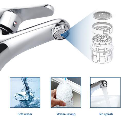 mitigeur lavabo robinet pour lavabo et vasque salle de bain wc robinetterie mitigeur eau et froide design moderne