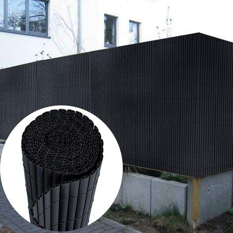 canisse en pvc brise vue pour jardin balcon et terrasse resistant avec serre cables 120 x 300 cm anthracite
