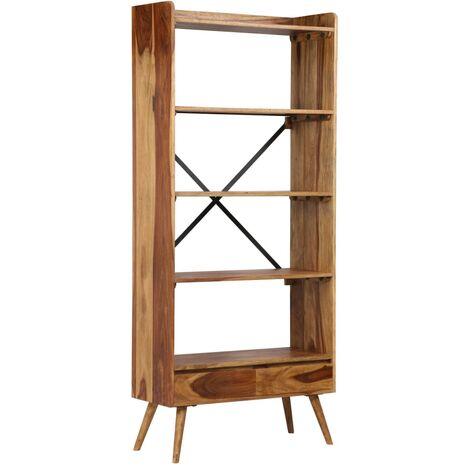 etagere armoire meuble design bibliotheque bois massif de sesham 170 cm bois