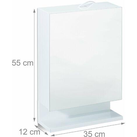 Armoire De Toilette Eclairante Stella 50 Cm 1 Porte 651029