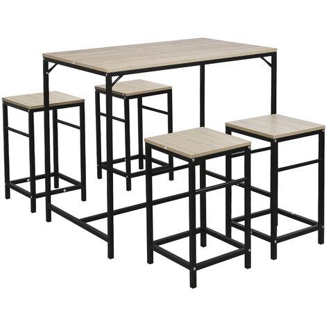 4 tabourets ensemble table de bar