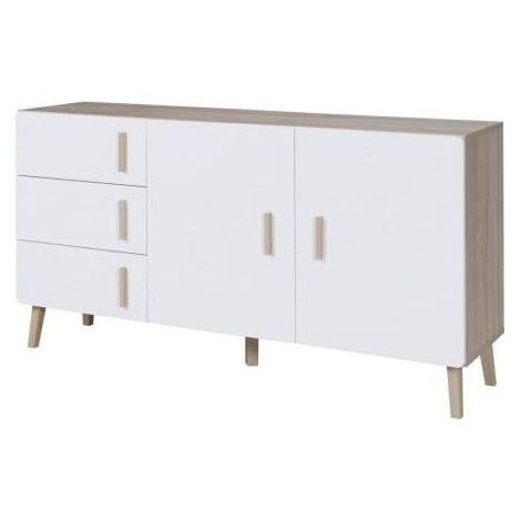 buffet enfilade bahut oslo moyen modele meuble design type scandinave blanc