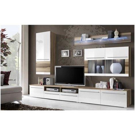 meuble tv design louma led pour votre salon blanc
